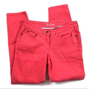 Boden Skimmer Zip Ankle Jeans Coral Sz 4P